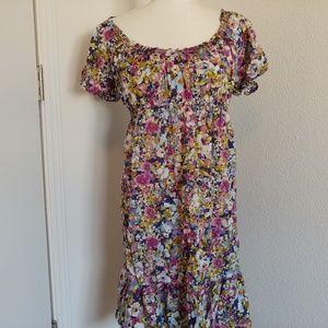 Loft, lightweight multi-color floral dress